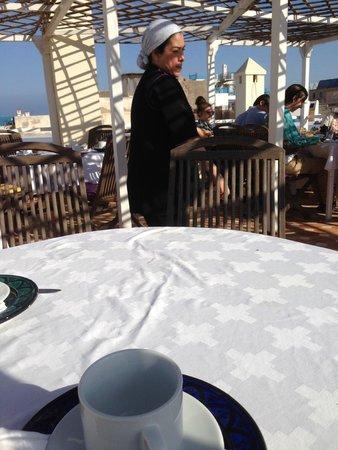 Riad Watier : breakfast on terrace