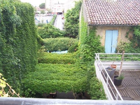 Hotel de Bordeaux: view from bedroom window