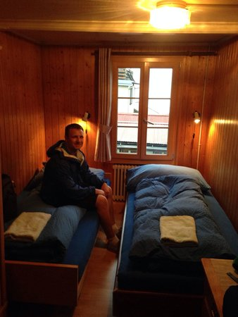 Chalet Fontana: Our small double room (#3)...tight but just fine for us! Wish we could've seen those views!