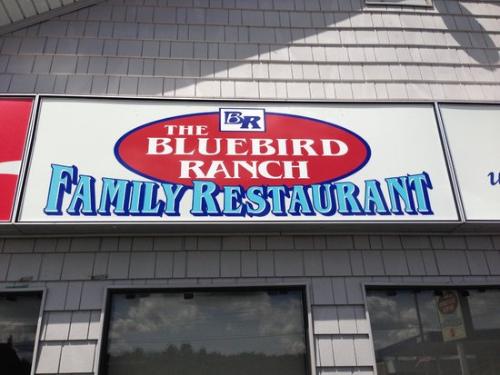 The Blue Bird Ranch Restaurant: Look for this sign...
