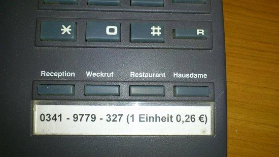 Mercure Hotel Leipzig Am Johannisplatz: Eine Telefoneinheit 26 Cent?