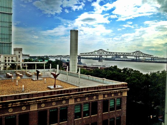 Hotel Indigo Baton Rouge Downtown Riverfront View From Room Looking South