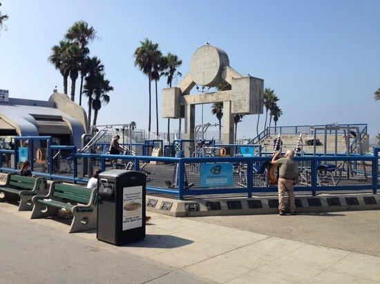 Venice Beach Boardwalk : Palestra all'aperto