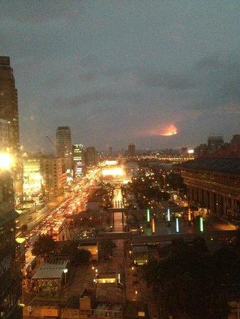 Cosmos Hotel Taipei: Vista desde la habitación