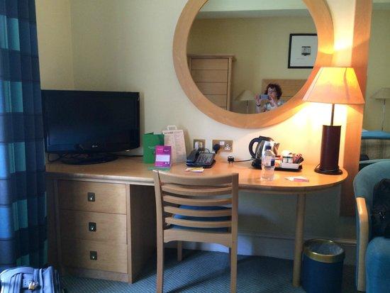 De Vere Devonport House: TV etc taken from bed