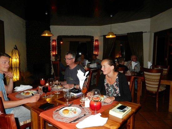 Heerlijk diner bij Hohenstein lodge