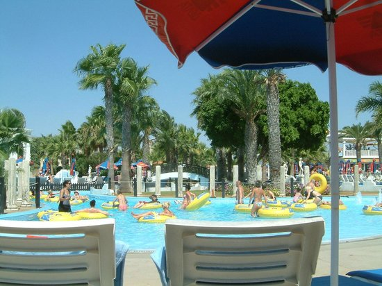 WaterWorld Waterpark: From the sun beds at Lazy Waters
