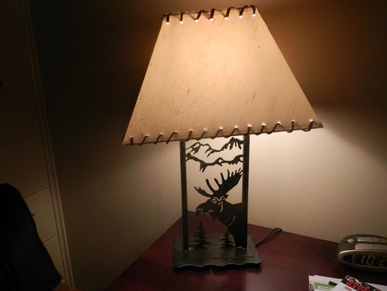 One Horse Motel: Special Lamp on night stand