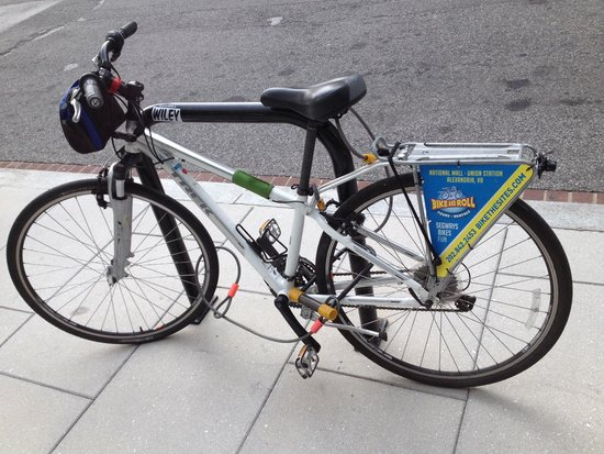Bike and Roll DC: This was my partner around D.C.! We had a blast together! It was locked in front of the Newseum