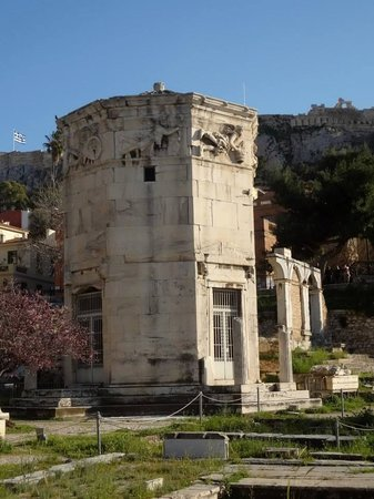 Plaka Hotel: Temple of the Four Winds, 100 yards from our front door