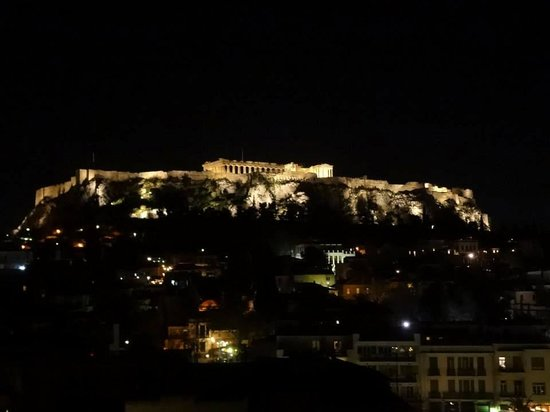 Plaka Hotel : View from the rooftop terrace