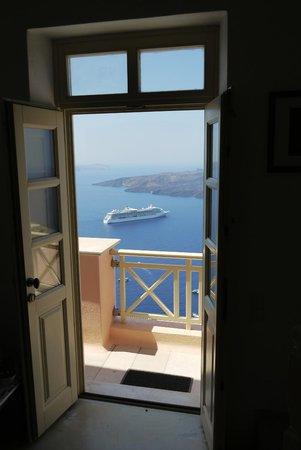 Nefeles Suites Hotel: Top floor suite view