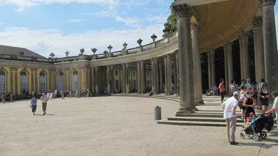 Sanssouci Palace: the back of the palace