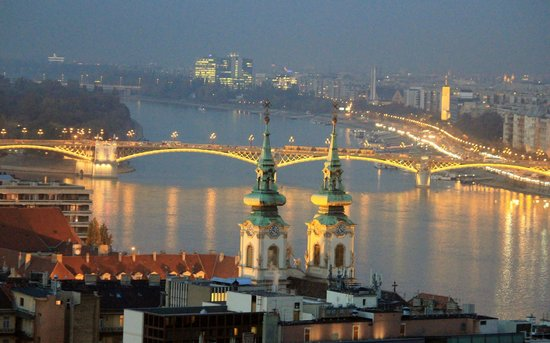 Parliament: Danube River , City lights in Budapest