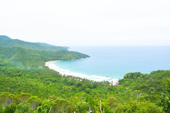 View of Nagtabon Beach from afar