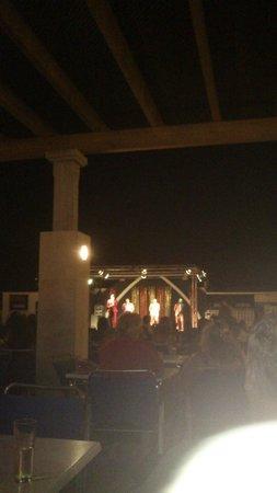 Club Hotel Aguamarina: Escenario espectaculos en directo