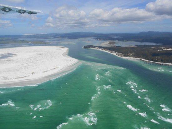 Salt Air Tours: Parengarenga Harbour on east coastline