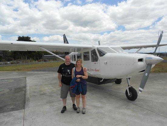 Salt Air Tours: At Kerikeri airport after flight to Cape Reinga