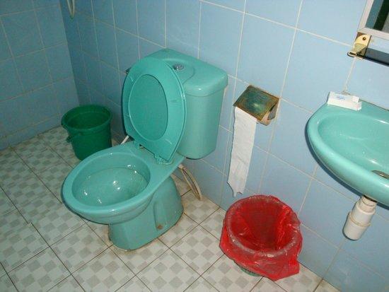 Lava View Lodge: salle de bain mediocre