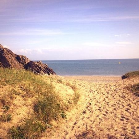 Pwllheli Beach: gimblet rock