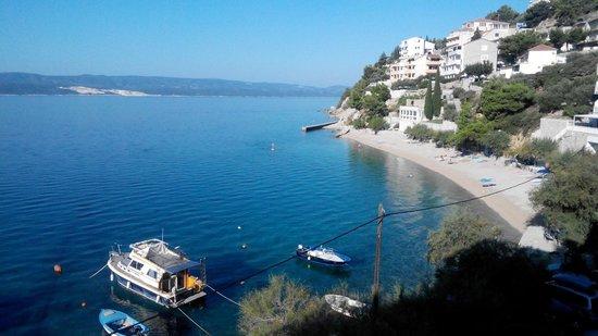 Hotel Pleter: La vista dalla camera e la spiaggetta!