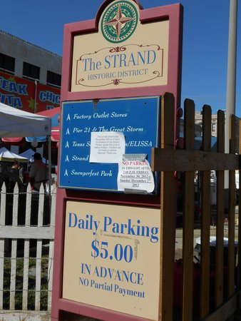 The Strand: parking charges