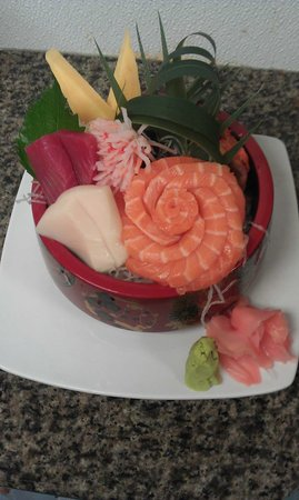 Toyo Japanese Sushi & Hibachi: Special Chirashi Lunch plate with extra Salmon