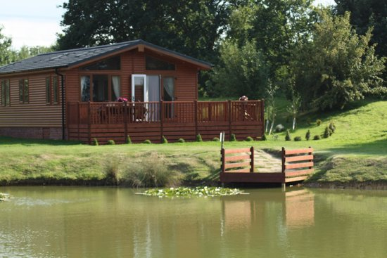 Yaxham Waters Holiday Park: our view from our cabin
