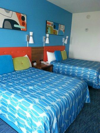 Universal's Cabana Bay Beach Resort: Two queen room (no fridge or microwave)