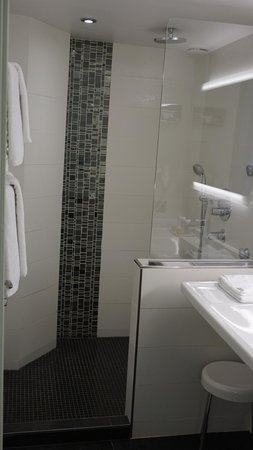 Hotel Saint Petersbourg : Bathroom (toilet was hiding behind the door on the left)