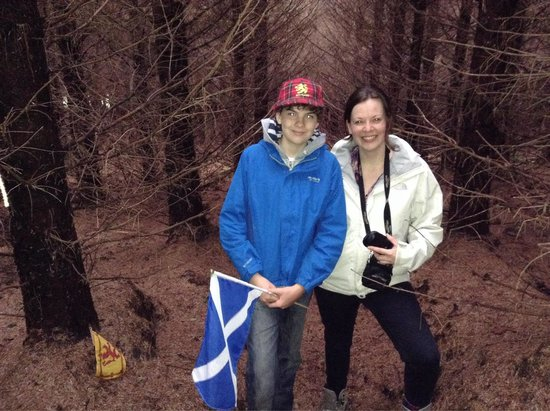 Highland Titles Nature Reserve: Fiona and one very happy laird having located his plot of Scotland