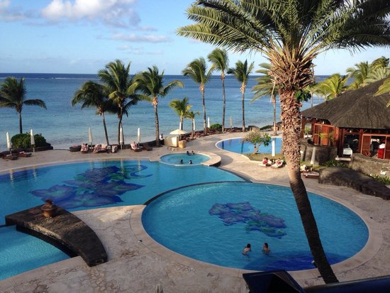 The Residence Mauritius: View of the pools