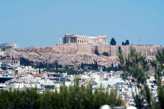 InterContinental Athenaeum: The Acropolis from the Club Lounge balcony