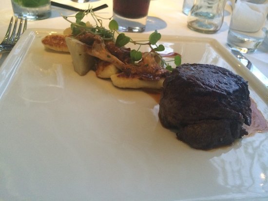 Oxo Tower Restaurant, Bar and Brasserie: The beef main course