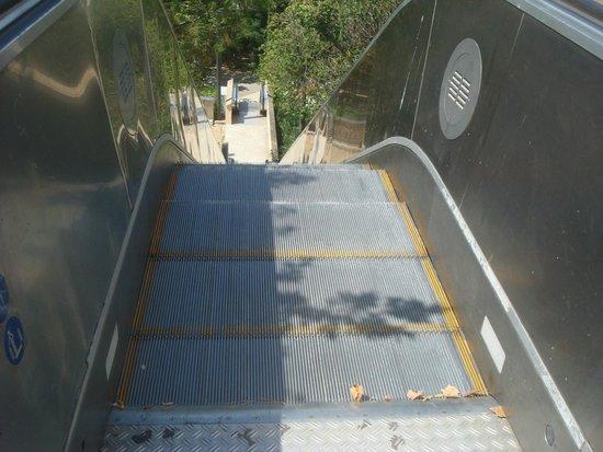 Museu Nacional d'Art de Catalunya: Escadas rolantes