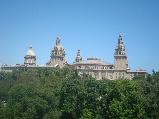 Museu Nacional d'Art de Catalunya: Visão a partir do ponto mais alto
