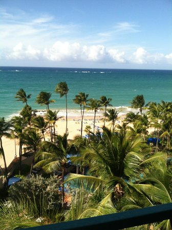 San Juan Marriott Resort & Stellaris Casino: View of the Ocean from the Cabana Rooms