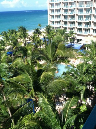 San Juan Marriott Resort & Stellaris Casino: View of the Pool from the Cabana Rooms