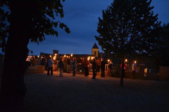 Gourdon, Γαλλία: Visite aux Flambeaux