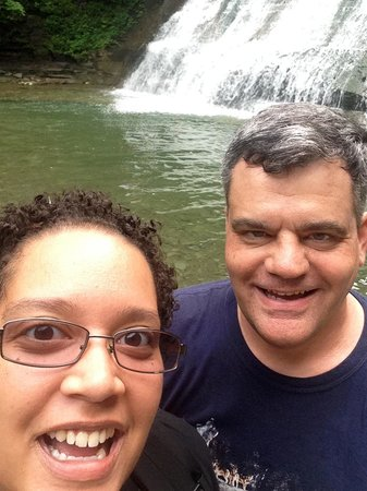 Stony Brook State Park: My niece and I along the gorge trail