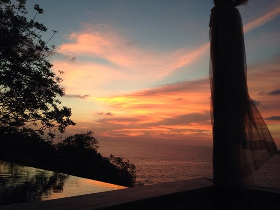 The Shore at Katathani: Stunning sunset from sunbeds on private balcony