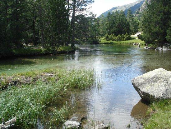 Parque Nacional de Aiguestortes: Remansos del rio en planell d'Aiguestortes
