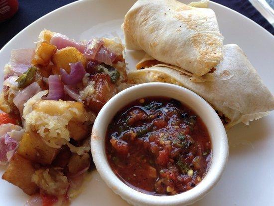 Hotel ZaZa Dallas : Scrambled egg migas tomato salsa