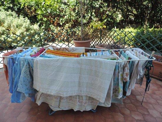 B&B Olympus: Sušení prádla - to jsou cca 2/3 normálního množství
