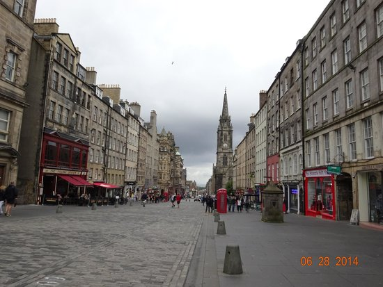 View at the top of the Royal Mile