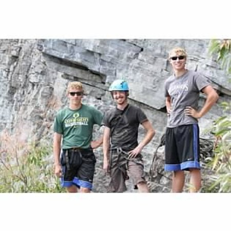 Glacier Adventure Guides - Day Tours: Chris (middle) and the boys.