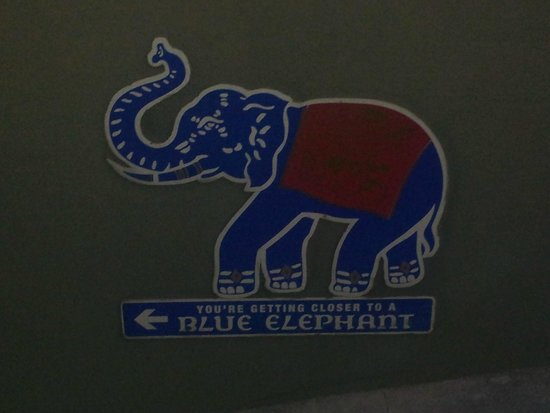 Blue Elephant: look for the sign...