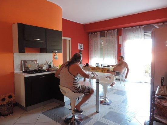 B&B Olympus: Společenská místnost, obývák, jídelna, kuchyně místo pro relaxaci, kancelář