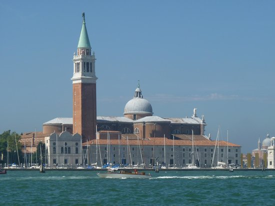 San Giorgio Maggiore: Another view of Sang Giorgio bell tower from Grand Canal