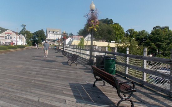 Weirs Beach, NH: The boardwalk at Weir's Beach NH
